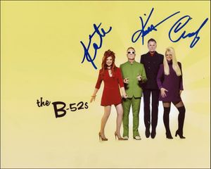 The B-52's Signed 8x10 Photo