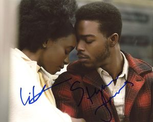 Stephan James & KiKi Layne Signed 8x10 Photo