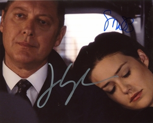 James Spader & Megan Boone Signed 8x10 Photo