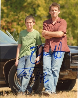 Ellar Coltrane & Ethan Hawke Signed 8x10 Photo