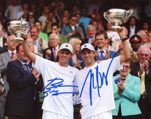 Bob & Mike Bryan Signed 8x10 Photo