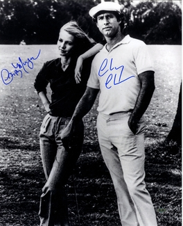 Chevy Chase & Cindy Morgan Signed 16x20 Photo