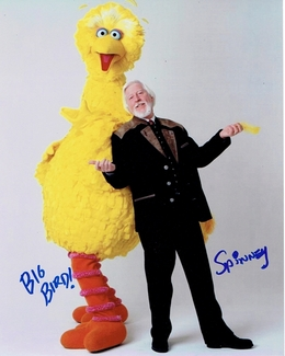 Caroll Spinney Signed 8x10 Photo - Video Proof