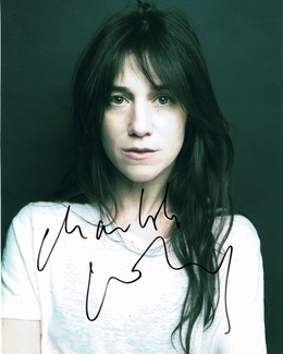Charlotte Gainsbourg Signed 8x10 Photo - Video Proof