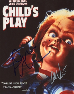 Don Mancini & Alex Vincent Signed 8x10 Photo - Video Proof