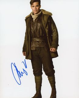Chris Pine Signed 8x10 Photo - Video Proof