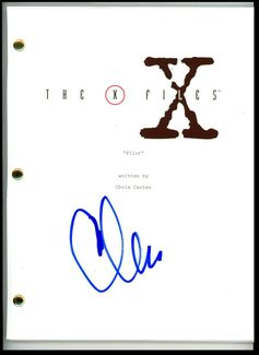 Chris Carter Signed Script