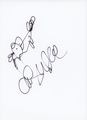 Chris Wedge Signed 8.5x11 Sketch