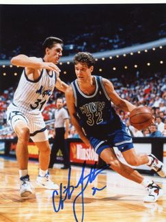Christian Laettner Signed 8x10 Photo