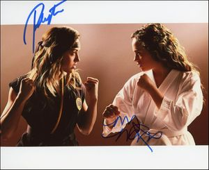 Peyton List & Mary Mouser Signed 8x10 Photo