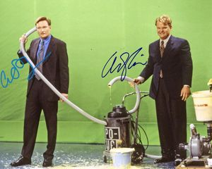 Conan O'Brien & Andy Richter Signed 8x10 Photo