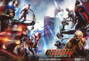 Grant Gustin & Stephen Amell Signed 8x12 Photo