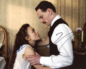 Michael Fassbender & Keira Knightley Signed 8x10 Photo - Video Proof