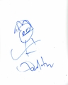 Dan Harmon Signed 8.5x11 Sketch - Video Proof