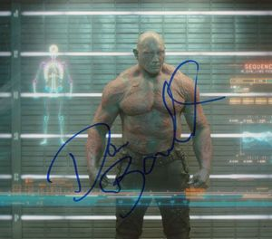 Dave Bautista Signed 8x9 Photo - Video Proof