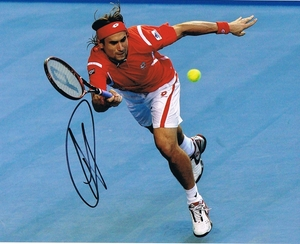 David Ferrer Signed 8x10 Photo
