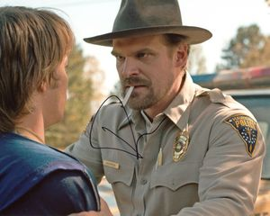 David Harbour Signed 8x10 Photo - Video Proof