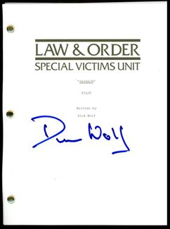 Dick Wolf Signed Script