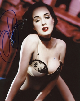 Dita Von Teese Signed 8x10 Photo