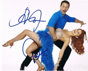 Drew Lachey & Anna Trebunskaya Signed 8x10 Photo