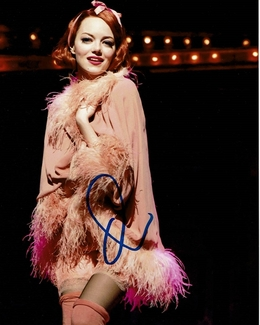 Emma Stone Signed 8x10 Photo