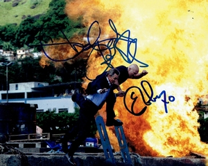 Stone Cold Steve Austin & Eric Roberts Signed 8x10 Photo - Video Proof
