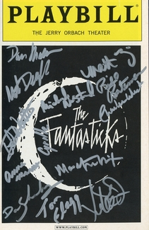 The Fantasticks Signed Playbill