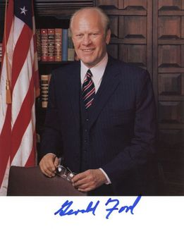 Gerald Ford Signed 8x10 Photo