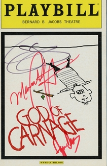 God of Carnage Signed Playbill