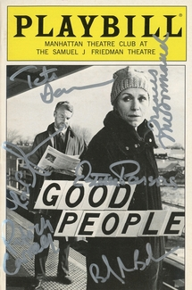 Good People Signed Playbill