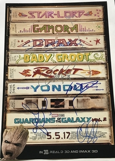 Guardians of the Galaxy Signed 12x18 Photo