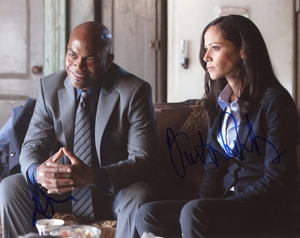 Victoria Cartagena & Andrew Stewart-Jones Signed 8x10 Photo