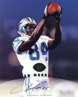 Herman Moore Signed 8x10 Photo