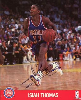 Isiah Thomas Signed 8x10 Photo