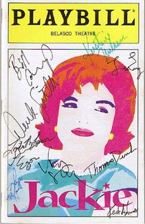 Jackie Signed Playbill
