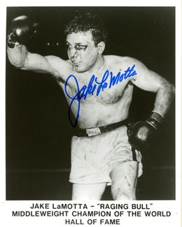 Jake LaMotta Signed 8x10 Photo