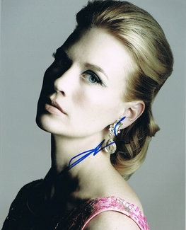 January Jones Signed 8x10 Photo - Video Proof