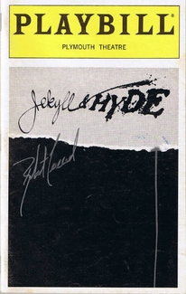 Jekyll & Hyde Signed Playbill