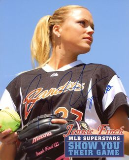 Jennie Finch Signed 8x10 Photo