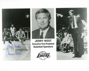Jerry West Signed 8x10 Photo