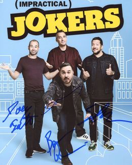 Impractical Jokers Signed 8x10 Photo - Video Proof