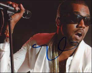 Kanye West Signed 8x10 Photo