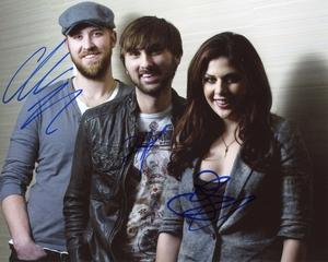 Lady Antebellum Signed 8x10 Photo