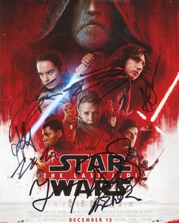 Star Wars: The Last Jedi Signed 8x10 Photo