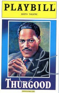 Laurence Fishburne Signed Playbill