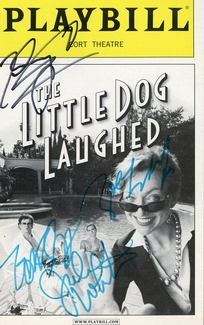 The Little Dog Laughed Signed Playbill