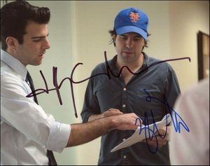 JC Chandor & Zachary Quinto Signed 8x10 Photo