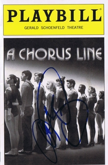 Mario Lopez Signed Playbill