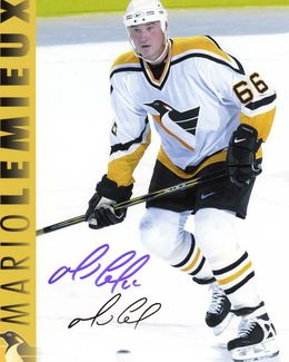 Mario Lemieux Signed 8x10 Photo