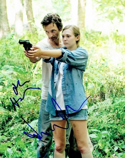 Elizabeth Olsen & John Hawkes Signed 8x10 Photo
